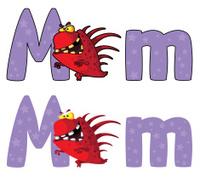 letter M monster