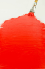 Red Paint and Brush Background