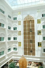 The lobby interior at luxury hotel, Dubai, UAE