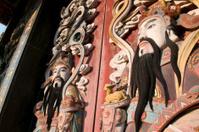Antique Chinese Temple Door Guardians