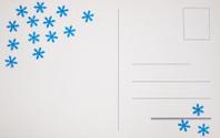 Blank post card