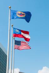 Flags in Atlanta, Georgia