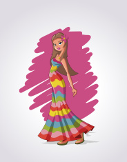 cartoon hippie