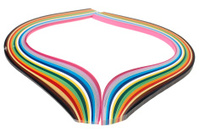 Colorful paper flow
