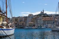 Notre Dame de la Garde from the marina in Marseille