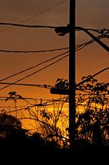 Sunrise hydro wires