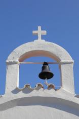 belfry of a typical greek church