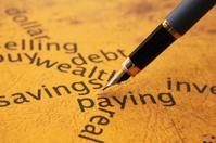 Savings and paying concept