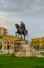 Tirana, Albania - statue of Skanderbeg