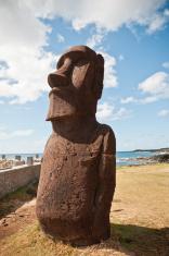 Moai Statue. Easter Island (Chile)