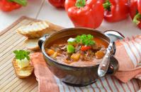 Hot goulash soup