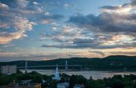 Sunset over the Mid-Hudson Bridge