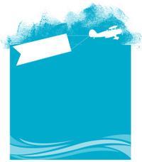Beach Banner Plane Background - Air Travel