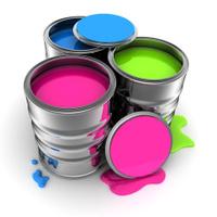Paint, three colour