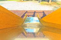 Children slide in the park
