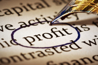 Profit is important! Fountain pen circles word in document