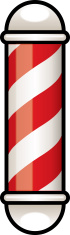cartoon barbershop pole
