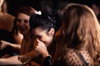 Woman having fun in a night club