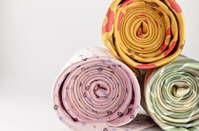 Colorful neck ties isolated