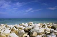 pebbles on beach in Corfu Island