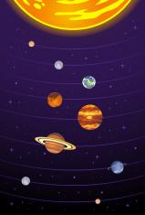 Solar systema vertical
