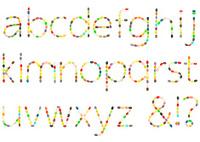 Jellybean lowercase alphabet