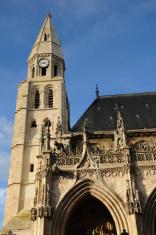 France, gothic collegiate church of Poissy