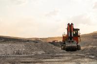 Hitachi Excavator in Mine Pit
