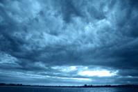 Coastline dark clouds