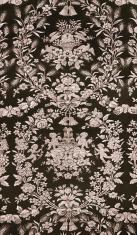 Baroque-Style Black Wallpaper