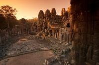 Sunrise at the Bayon, Angkor Wat, Cambodia