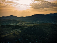 Hills above Bergama before sunset