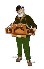 Man with barrel organ