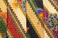Printed Batik at Indonesian Textile-Market