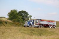 Semi dump truck and trailer