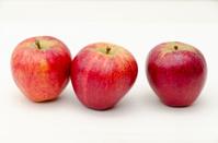 Three red apples.