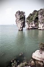 """Thailand, Phang Nga Province, Ko Tapu, """"James Bond Island""""."""