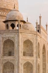 India: Taj Mahal detail in soft morning light