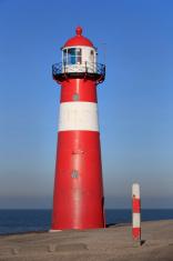 lighthouse of Westkapelle along the Dutch coast