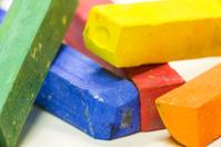 Macro shot of colored pastels