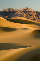 Sand Dunes and Ruby Mountains, Death Valley National Park