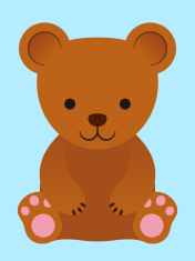 Adorable little brown teddy bear