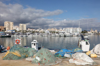 Fishing boats in Estepona, Spain
