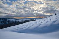 Winter mountain sunset.