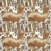 Seamless pattern-town