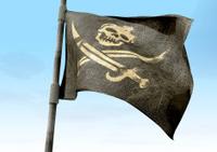 Jolly Roger Pirate Flag Closeup