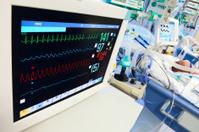 Neonatal ICU with ECG monitor