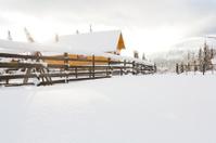 Snow Covered Alpine Hut