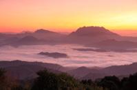 Perfect Mountain Ocean Mist in Sunrise