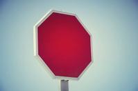 Empty road signal